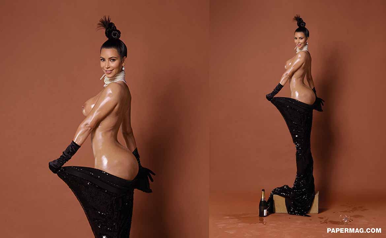 kim kardashian nue pour paper