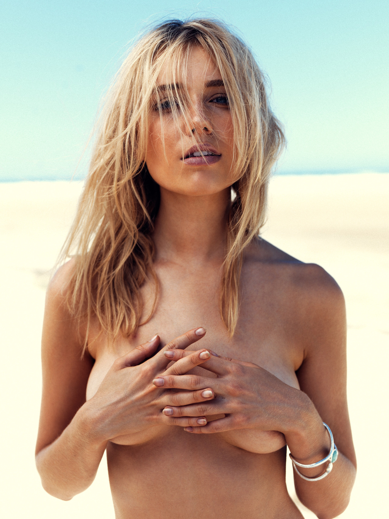 blonde topless