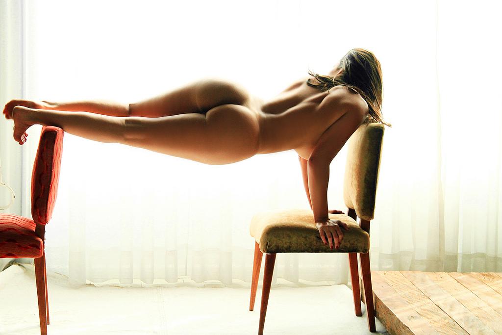 femme nue gainage