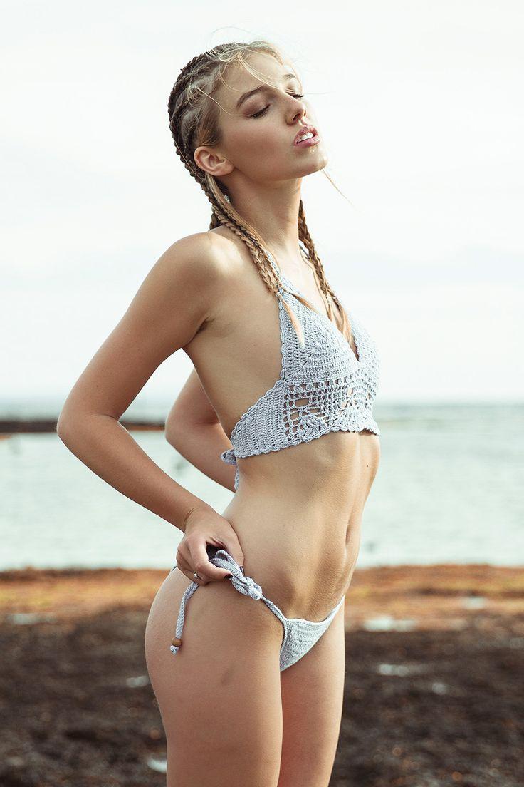 blonde sexy beach