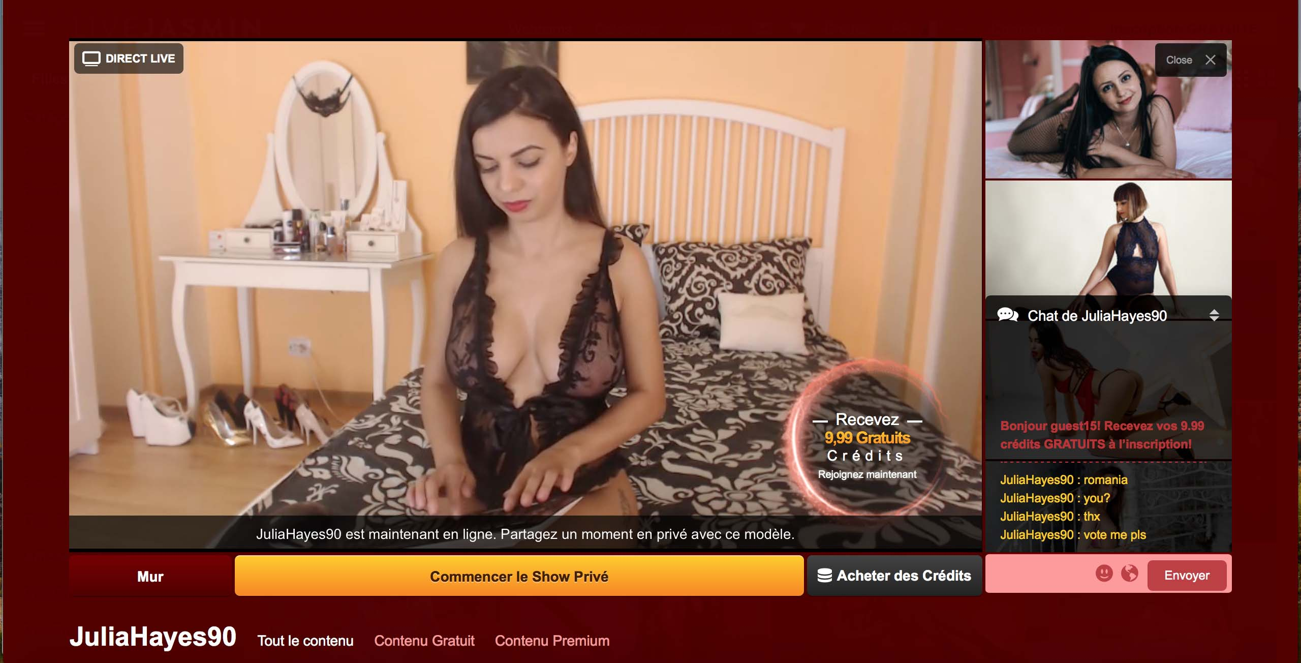 meilleur site de webcam